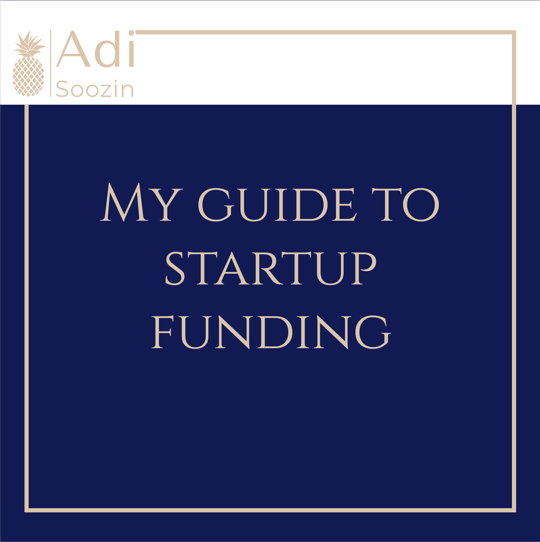 Draft Version 3: My Guide To Startup Funding